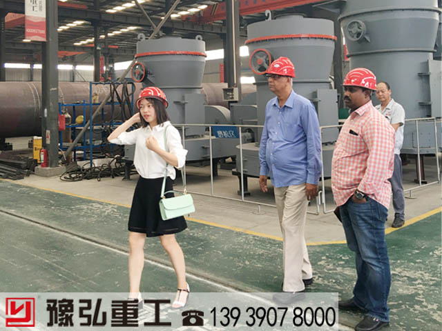 国外用户考察粘土磨粉机