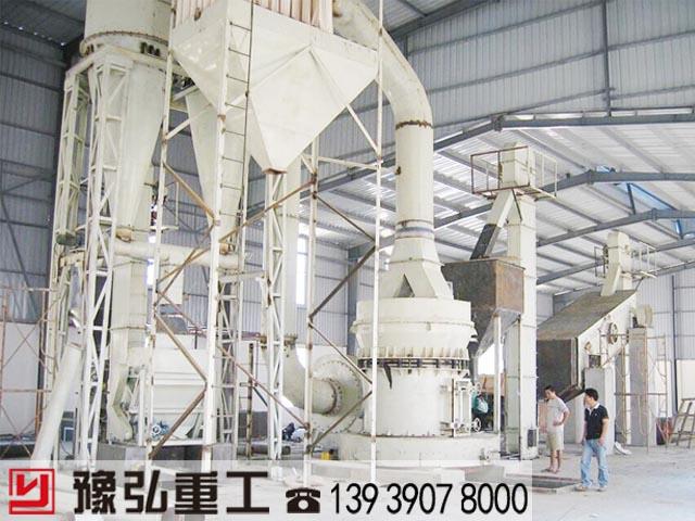 广东粘土粉碎生产线现场