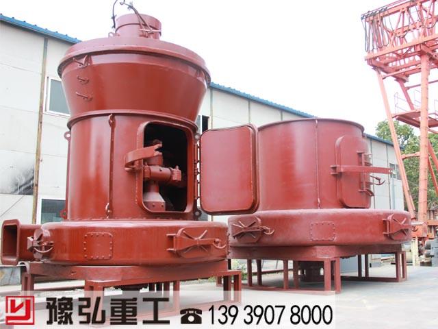 生产中的粘土磨粉机半成品